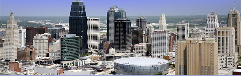 Arial view of Downtown Kansas City